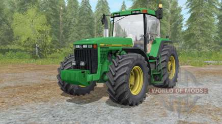 John Deere 8400&8410 nowa dirt skory for Farming Simulator 2017