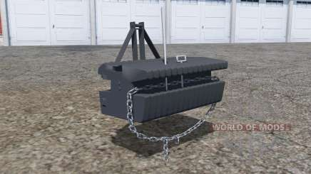 Front weight with movable chain for Farming Simulator 2013