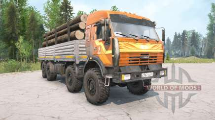 KamAZ-6350 orange color for MudRunner