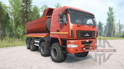 MAZ-6516В9 red color for MudRunner