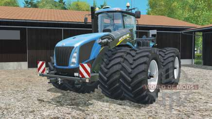 New Holland T9.565 with dynamic twin wheels for Farming Simulator 2015