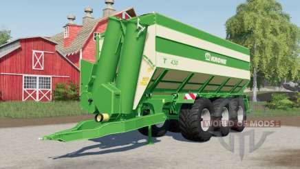 Krone TX 430 optional rear trailer hitch for Farming Simulator 2017