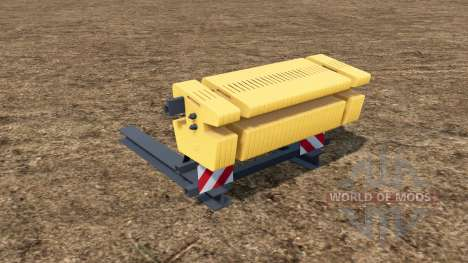 Rear Ballast Set from 0,5 to 5 tons for Farming Simulator 2017