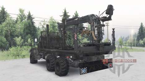 KrAZ-255B for Spin Tires