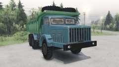 MAZ-530 green-blue for Spin Tires