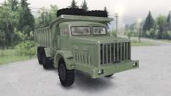 MAZ-530 green color for Spin Tires