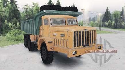 MAZ-530 green-orange for Spin Tires