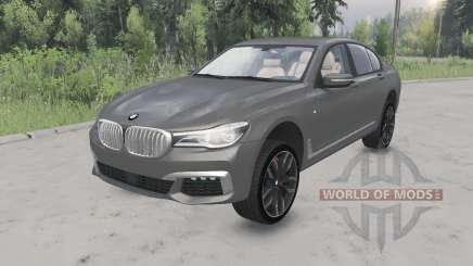 BMW M760i xDrive (G11) 2017 lifted for Spin Tires