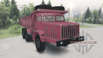 MAZ-530 red color for Spin Tires