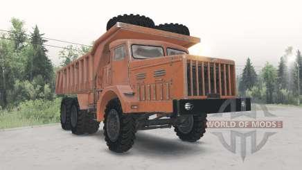 MAZ-530 orange color for Spin Tires