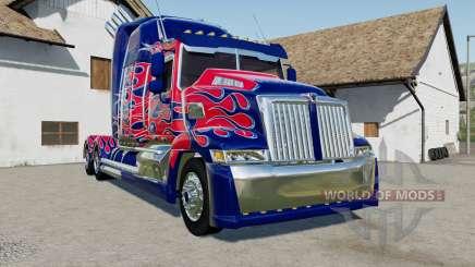 Western Star 5700 Sleeper Cab Optimus Prime for Farming Simulator 2017
