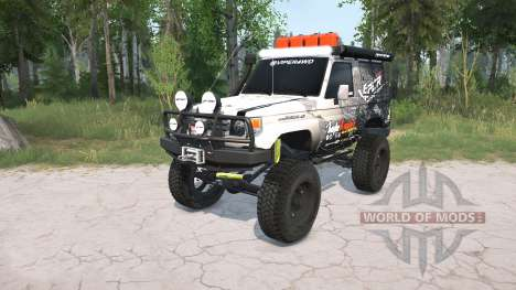 Toyota Land Cruiser Hard Top (J71) LX lifted for Spintires MudRunner