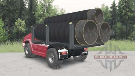 Unmanned truck Scania for Spin Tires