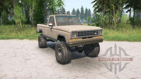 Ford Ranger Regular Cab Styleside 1983 for Spintires MudRunner