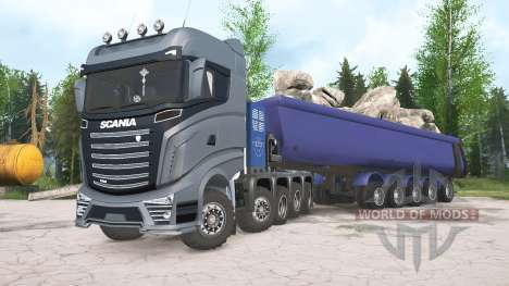Scania R1000 10x10 for Spintires MudRunner