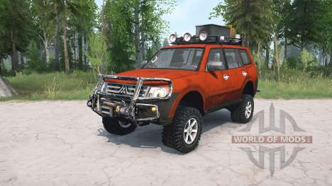 Mitsubishi Pajero 5-door 2006 lifted for Spintires MudRunner