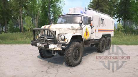 ZIL-131 EMERCOM of Russia for Spintires MudRunner