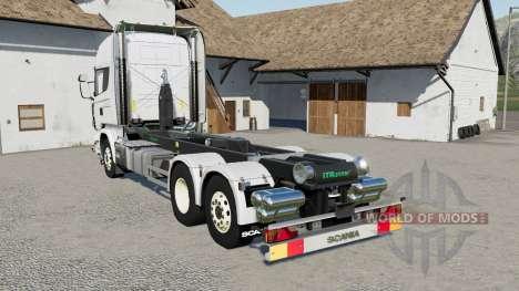 Scania R730 hooklift for Farming Simulator 2017