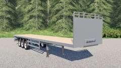 SDC flatbed trailer for Farming Simulator 2017