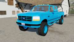 Ford F-350 Powerstroke XLT Crew Cab light blue for Farming Simulator 2017