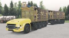 Unmanned truck Scania 10x10 for Spin Tires