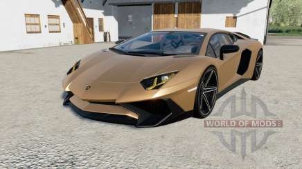 Lamborghini Aventador LP 750-4 SV (LB834) 201ⴝ for Farming Simulator 2017