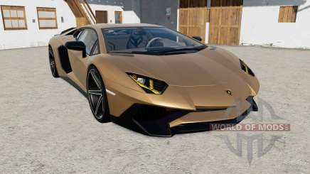 Lamborghini Aventador LP 750-4 SV (LB834) 2015 for Farming Simulator 2017