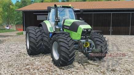 Deutz-Fahr 7250 TTV Agrotron rear twin wheels for Farming Simulator 2015