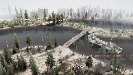Forest. River. Bridges for Spintires MudRunner