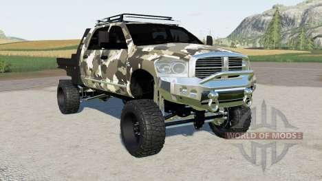 Dodge Ram 3500 Mega Cab flatbed for Farming Simulator 2017