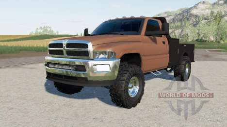 Dodge Ram 3500 Regular Cab flatbed for Farming Simulator 2017