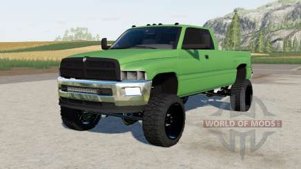 Dodge Ram Club Cab lifted for Farming Simulator 2017
