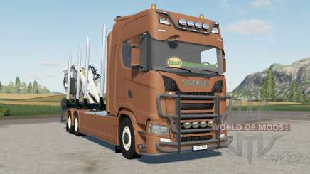 Scania S 730 timber truck for Farming Simulator 2017