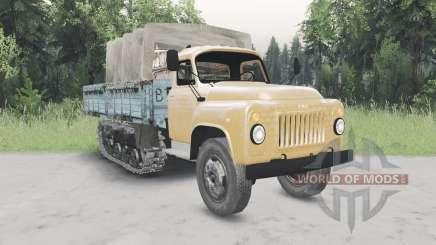 GAZ-53 half-track v2.0 for Spin Tires