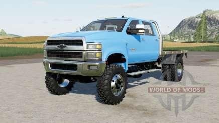 Chevrolet Silverado 4500 HD Crew Cab flatbed for Farming Simulator 2017