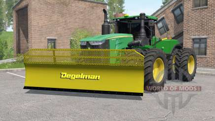 John Deere 9620R with silage blade for Farming Simulator 2017