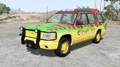 Gavril Roamer Tour Car Jurassic Park v4.1.5 for BeamNG Drive