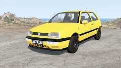 Volkswagen Golf 3-door (Typ 1H) 1995 for BeamNG Drive