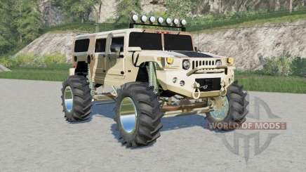 Hummer H1 Alpha Wagon Camo lifted for Farming Simulator 2017