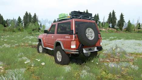 Nissan Patrol GR 3-door (Y60) lifted for Spintires MudRunner