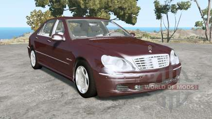 Mercedes-Benz S 600 (W220) 2005 for BeamNG Drive