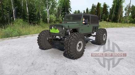 Jeep Wrangler crawler for MudRunner