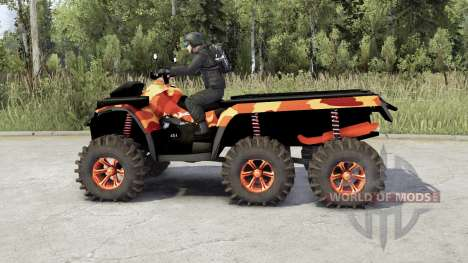 Can-Am Outlander 6x6 for Spin Tires