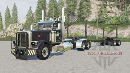 Peterbilt 389 logging truck for Farming Simulator 2017