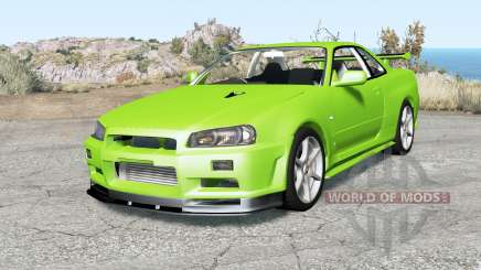Nissan Skyline GT-R V-spec II (BNR34) Ձ000 for BeamNG Drive