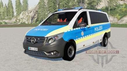 Mercedes-Benz Vito Kastenwagen (W447) Polizei for Farming Simulator 2017