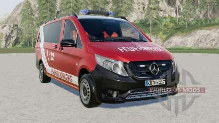 Mercedes-Benz Vito Kastenwagen (W447) Feuerwehr for Farming Simulator 2017