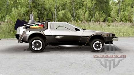 DeLorean DMC-12 time machine for Spin Tires