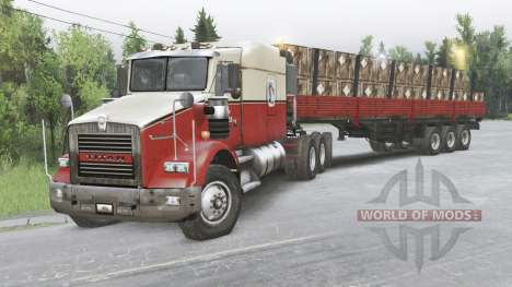 Kenworth T800 8x8 Chassis Cab for Spin Tires