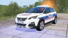 Peugeot 5008 Police National for Farming Simulator 2017